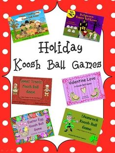 Take advantage of this money-saving opportunity and buy all my Holiday Koosh Ball SMARTBoard Games in this bundle. In this bundle you will receive: Halloween Koosh Ball Happy Thanksgiving Koosh Ball Game Sweet Treats Koosh Ball Game Valentine Love A Koosh Ball Game Easter Egg Koosh Ball Game Shamrock Koosh Ball Game These games are for students that do not have good aim when throwing a koosh ball at the SMARTBoard. $
