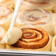 Camping Discover BEST EVER CINNAMON ROLLS These really are the best cinnamon rolls youll ever eat! Im never going to make another recipe THIS IS IT! Theyre soft tender chewy fluffy perfectly cinnamony and that cream cheese icing is to die for! Cinnabon Cinnamon Rolls, Best Cinnamon Rolls, Cinnamon Roll Icing, Apple Cinnamon, Pioneer Woman Cinnamon Rolls, Best Cinnamon Roll Recipe, Bread Machine Cinnamon Rolls, Biscuit Cinnamon Rolls, Sourdough Cinnamon Rolls