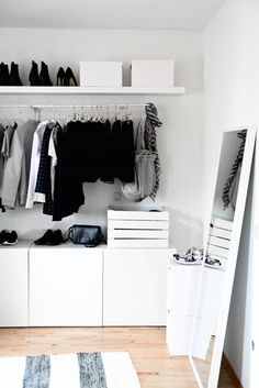 Ikea open wardobe / mulig / besta / Lack www.de Ikea open wardobe / mulig / besta / Lack www.de The post Ikea open wardobe / mulig / besta / Lack www.de appeared first on Schlafzimmer ideen. Ikea Open Wardrobe, Wardrobe Closet, Open Closets, Open Wardrobes, Simple Wardrobe, Hall Closet, Wardrobe Storage, Minimalist Wardrobe, Dream Closets