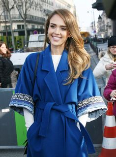 See All the Stars at Paris Fashion Week So Far: Ashley Olsen arrived at the H show on Wednesday night in Paris for Fashion Week.  : Jessica Alba was bright in blue at Kenzo's show on Sunday.