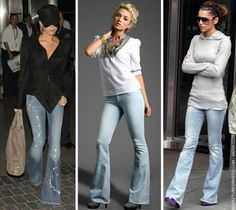 Yay! Flare jeans = death to skinny jeans! :)