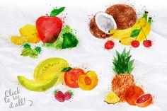 Fruit Watercolor - Illustrations