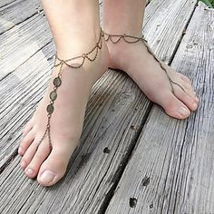Women's Bohemian Style Sequined Tassels Mittens Anklets – USD $ 4.19