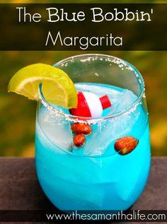 blue margarita, blue bobbin margarita, blue bobbin patron poppin margarita, margarita recipe, blue margarita recipe, drink recipe, summer cocktails, margarita