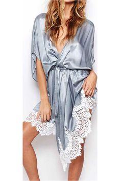 The perfect silk robe #soleilblue #forloveandlemons www.soleilblue.com