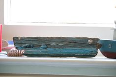 Weston-super-Mare Bay  Acrylic on Driftwood by TheLazyBeach