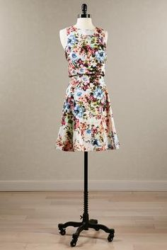 Versona Floral two piece fit & flare dress #Versona