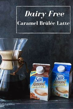 I love Coffee. But my body doesn't love dairy. But with Silk Almond Creamer, I can enjoy coffee again. Including my own version of a coffeehouse favorite: Dairy Free Caramel Brûlée Latte. #SilkSipToSpoon #ad