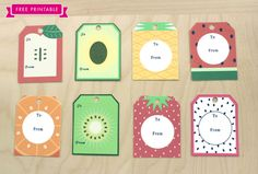 Printable summer fruit gift tags craft crafty and paper crafting free printable fruit gift tags share your jams jellies in style negle Choice Image