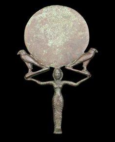 Shekina ,soul birds ,Light ,See your Self in a mirror? An Egyptian bronze mirror -  Late Period, circa 664-30 B.C.