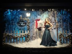This Holiday Window Display by VM Keith Dillion  We love that he always uses mannequins in his window displays in unique ways.