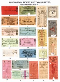 Vintage British Tickets http://www.ecrafty.com/c-81-craft-supplies.aspx