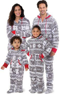 787428415397 Hoodie-Footie™ Matching Family Pajamas - Nordic Fleece
