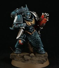 Miniaturas Warhammer 40k, Deathwatch, Warhammer Models, Warhammer 40k Miniatures, Black Dragon, The Grim, Mini Paintings, Warhammer 40000, Space Marine