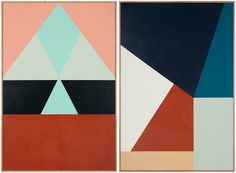 Left – 'It's my Time' by Esther Stewart, 2013, 90cm x 60cm,  'I Wanna Fall in Love' by Esther Stewart, 2013, 90cm x 60cm.