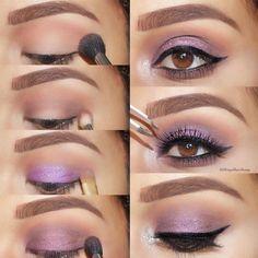 24 Purple Smokey Eye Makeup Ideas to Open the Party Season ★ Purple Smokey Eyes Tutorials picture 1 ★ See more: http://glaminati.com/purple-smokey-eye/ #makeup #makeuplover #makeupjunkie #smokeyeyes #makeuptutorial