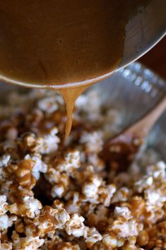 This recipe was sooo good for a dry, crunchy type of caramel corn. I did 3 batches of air popped corn instead of the 2 the recipe calls for. Worked great! Then I drizzled dark, milk and white chocolate over top. YUM! If just using as plain caramel corn would do just 2 batches of popcorn, but with chocolate on top the 3 batches was perfect.