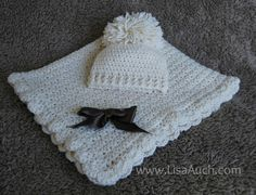 Baby Blanket And Baby Hat Set By Lisa Auch - Free Crochet Pattern - (crochet-patterns-free)
