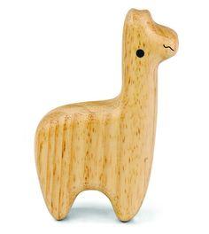 Wooden Llama Rattle | Animal Shaker | Green Tones - Brimful
