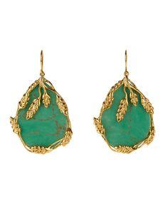 Francoise bakelite & gold-plated earrings by Aurélie Bidermann | Shop now at #MATCHESFASHION.COM