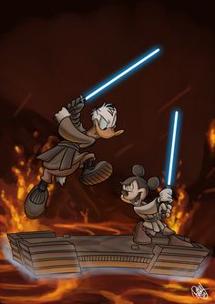 Star Wars Magazine Cover! | by Renny08 @ DeviantART.com // #disney #crossover; star wars; donald duck; mickey mouse