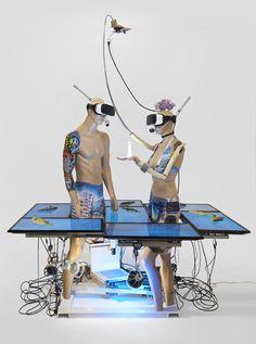 Interactive Installation, Artistic Installation, Sculpture Art, Sculptures, Nam June Paik, Appropriation Art, Internet Art, Tech Art, New Media Art