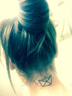 Origami Paper Boat Tattoo... Yes I did ! #ilétaitunpetitnavire