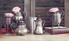 Vintage Vignettes - Viewing Inventory of Silver Vessels