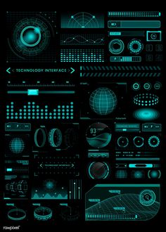 Download premium vector of Technology interface template design elements vector by taus about technology black backgrounds, technology abstract, Technology interface template design elements vector, computer network, and abstract 1206951