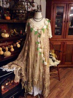 plus size white crochet dress | Luv Lucy Plus Size Crochet Dress Boho Gypsy by LuvLucyArtToWear, $350 ...
