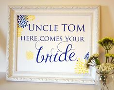 Ring bearer 8x10 sign  flower girl sign  here comes by laceyfields, $11.00