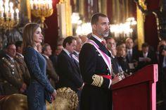 Pascua Militar: Su Majestad el Rey durante su intervención Palacio Real de Madrid, 06.01.2015