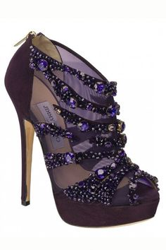 Jimmy Choo. These shoes are purple. Purple is the best color ever. These shoes are like a dream!!!!!