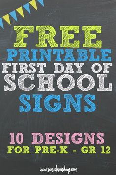 Customize This Free Printable Chalkboard Sign For Your Child Quickly
