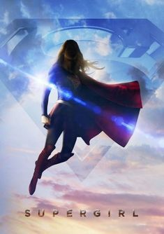 Supergirl star Melissa Benoist strikes a flying pose for a new promo poster, and reminds us when to watch the comic-book TV series. Supergirl Series, Supergirl Season, Supergirl Superman, Supergirl And Flash, Supergirl 2015, Watch Supergirl, Supergirl Outfit, Superman News, Gotham Batman