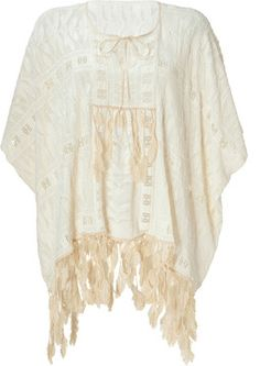 Anna Sui Cream Feather Embellished Top on shopstyle.com