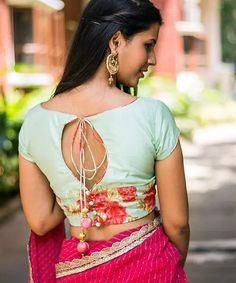 30 Latest Blouse Back Neck Designs In 2019 Blouse Back Neck Designs, Blouse Designs, Sari Blouse, 30th, Sarees, Wedding Planner, Blouses, Gallery, Stuff To Buy