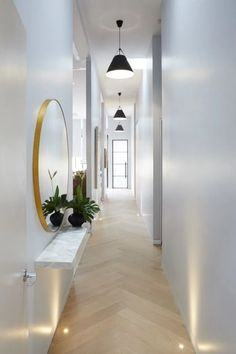 2017 Trends for Modern Hallway Design Apartments is about creating the best lobby design standards to create comfort in your home so that it creates the ideal l Lobby Design, Design Hotel, House Design, Entryway Lighting, Cool Lighting, Entryway Decor, Lighting Ideas, Entryway Ideas, Hallway Ideas Entrance Narrow