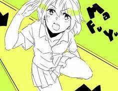 http://www.zerochan.net Tags: Anime, Tsubaki Izumi, Oresama Teacher, Kurosaki Mafuyu, Saluting
