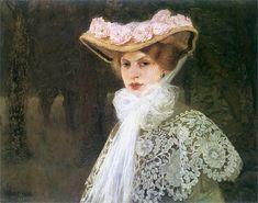 """""""Portrait of the Artist's Wife"""", 1907, by Edward Okun (Polish, 1872-1945)"""