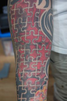 puzzle pieces tattoos   Pin Puzzle Piece Hole Tattoo Artistsorg on Pinterest