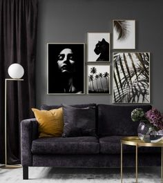 Gallery wall for the living room. Inspiration for the living room - Desenio Gallery wall for the living room. Inspiration for the living room - Desenio Living Room Inspiration, Home Decor Inspiration, Living Room Sofa, Living Room Decor, Minimalist Home Decor, Picture Wall, Photo Wall, Living Room Designs, Interior Design