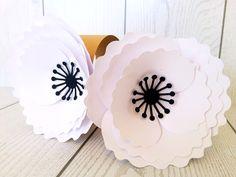 Decorazioni - Set 25 legatovaglioli con fiore in carta - un prodotto unico di NozzeperPassione-decorazioni-matrimonio su DaWanda