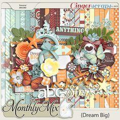 Monthly Mix: Dream Big http://store.gingerscraps.net/Monthly-Mix-Dream-Big.html