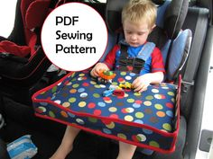 Car Seat Tray PDF Sewing Pattern for toddler by 270degrees, $5.95