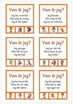 24 nya nypkort med enkla läsövningar Learn Swedish, Christmas Arts And Crafts, Preschool, Language, Teacher, Education, Kids, Young Children, Professor