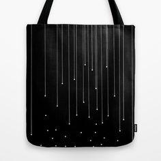 WHITE LITTLE RAIN Tote Bag by Uta Krauss - $22.00