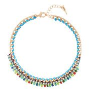 Beaded + Braided Collar Necklace - @Emily Elizabeth Love this!