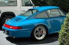 Riviera Blue Porsche 993 Carrera 4S with #Speedlines. #everyday993 #Porsche