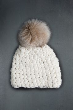 Mischa Lampert Solid Pomster Hat